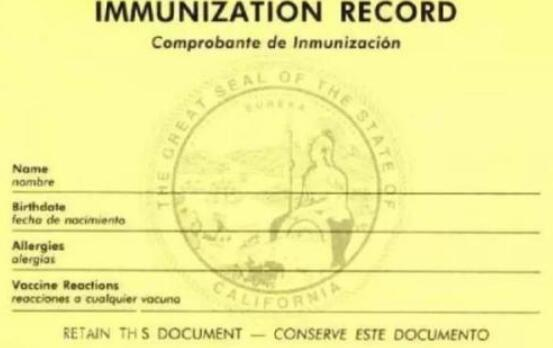 注意:美国生孩子宝宝疫苗黄卡十分重要!