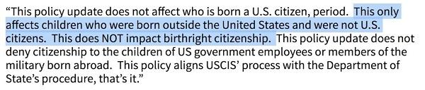 新政策后赴美生子还能拿美籍吗?