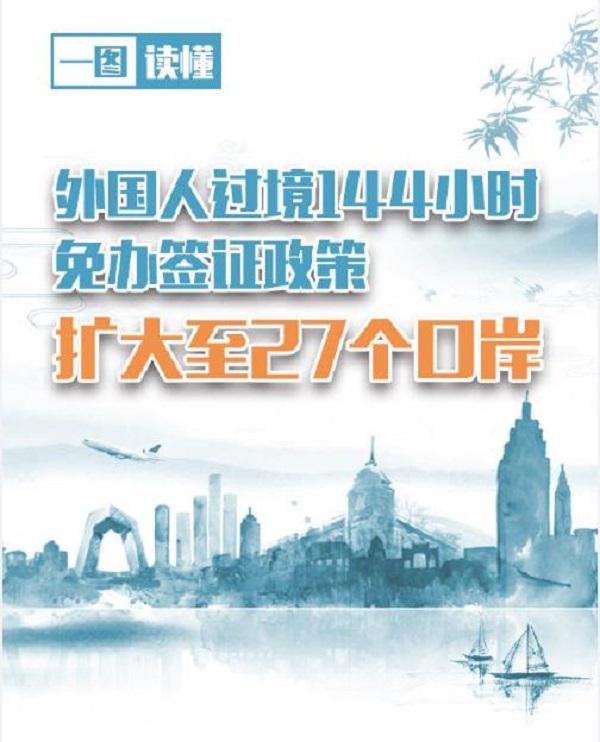 10月23日入境中国免签范围扩大